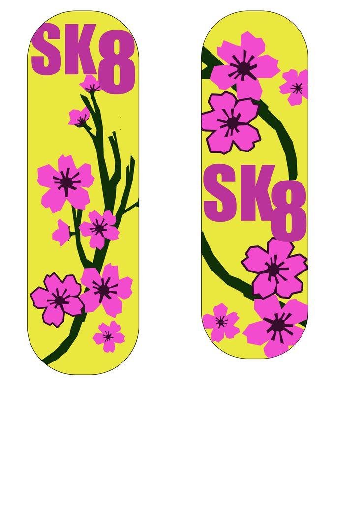 Skate Board Ideas Cherry Blossoms