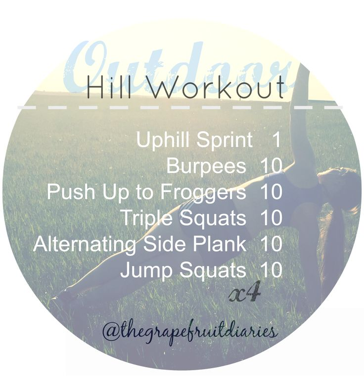 Can you tell I like working out outside? Hill HIIT workout. Full body hill workout.