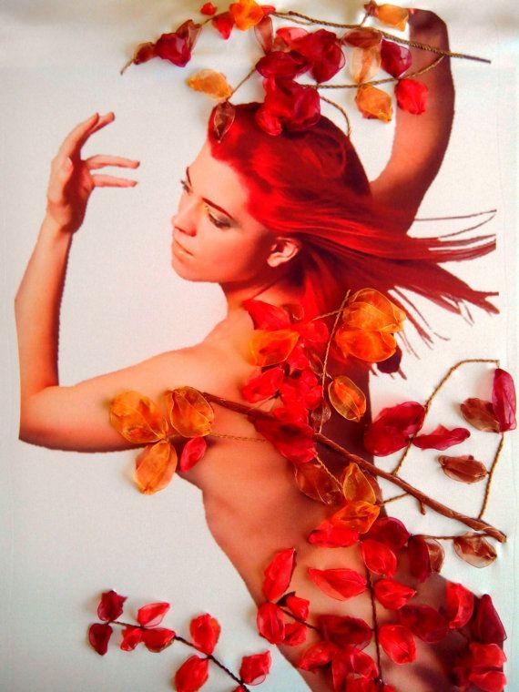 photo ruban de soie broderie fille-automne par RibbonEmbroiderySilk