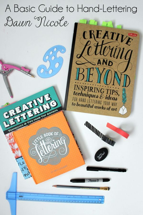Hand-Type Tips: A Basic Guide to Hand-Lettering. All my favorite tools of the trade, tips and recommended reading to get started with hand-lettering! bydawnnicole.com