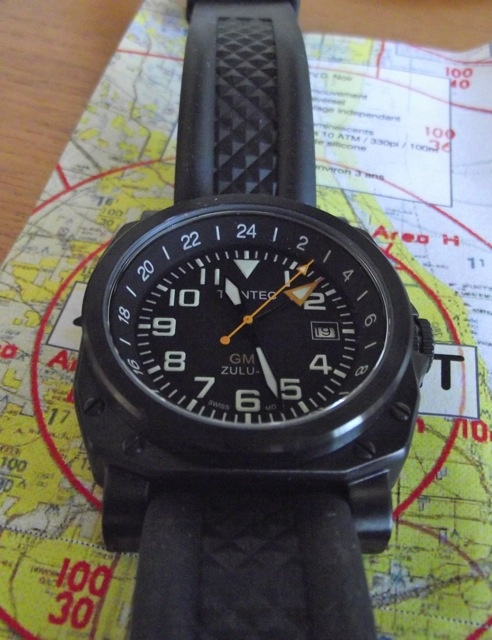 ZULU-05 GMT Aviator Watch - Comfortable in a Cockpit or Cocktail Party! www.trintec.com