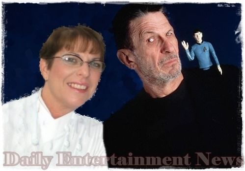 Leonard Nimoy the Actor who player Spock in Star Trek and his daughter Julie Nimoy