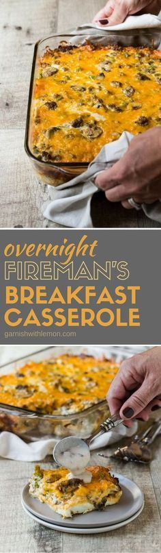 This recipe for Fireman's Overnight Breakfast Casserole has been in our family for decades. It's an easy, make-ahead recipe that is perfect for holiday brunches!
