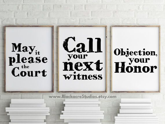 Courtroom Quotes Print Set - Gift Pack - Trial Lawyer Gifts - Home Decor - Law School Gifts - Office Party Gifts - Famous Legal Quotes