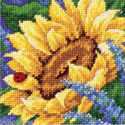 Dimensions #needlepoint #Sunflower and Ladybug #DIY #crafts #decor #needlework #stitching #gift #mothersday #yellow #flowers #summer