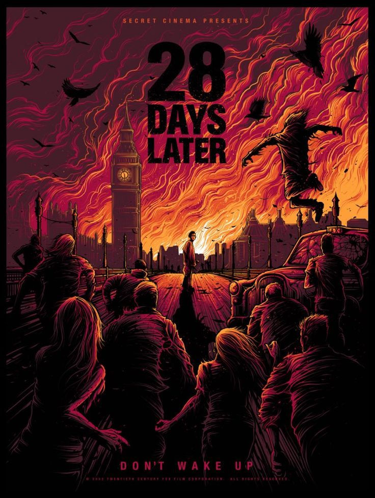 28 Days Later (2002) [791x1051] by Dan Mumford : MoviePosterPorn -Watch Free Latest Movies Online on Moive365.to