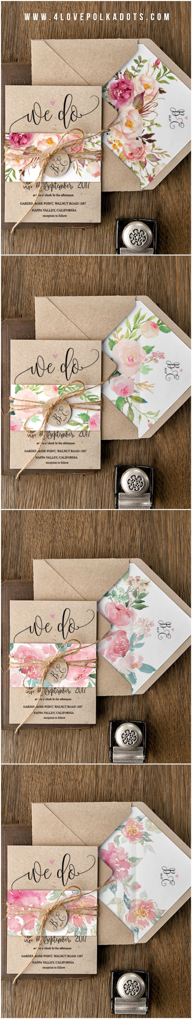 deer hunter wedding invitations%0A Spring wedding couples  take a look at this beautiful floral eco wedding  stationery suite by