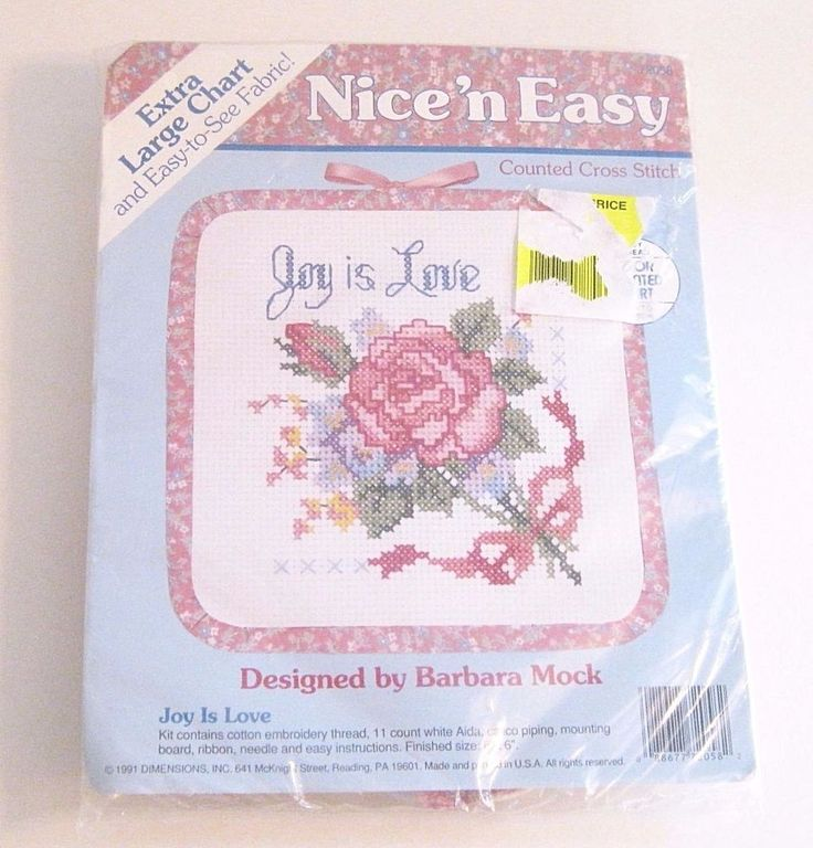 Vintage Nice N Easy Joy is Love Counted Cross Stitch Kit 1991 Dimensions Crafts #Dimensions #Sampler