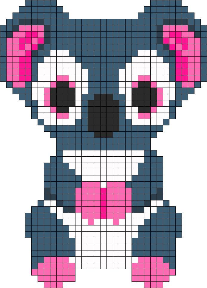 Kooky koala Beanie Boo perler pattern by indidolph