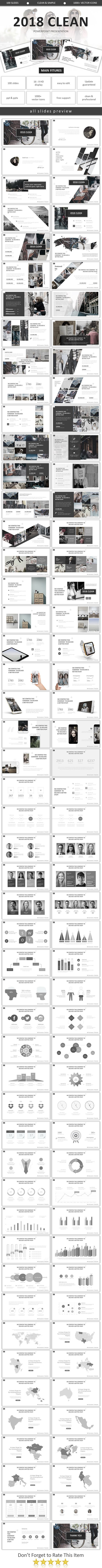 2018 Clean Minimal Powerpoint - Business #PowerPoint Templates