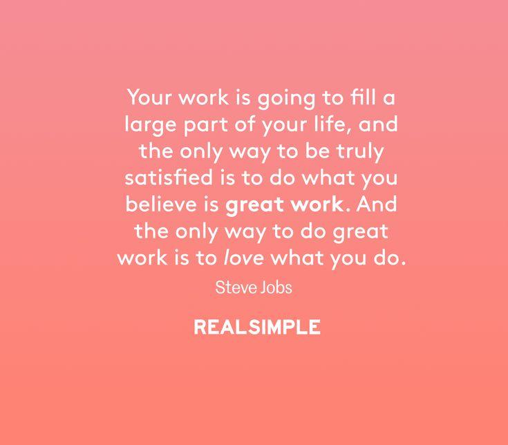Inspiring words from Steve Jobs.