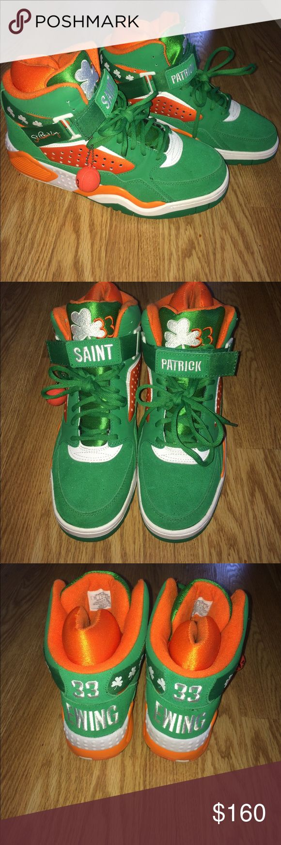 Sneakers (PATRICK EWINGS) SAINT PATRICK, Patrick Ewing sneakers. They are a 13 but the cushion in them makes the fit like 11.5-12! Shoes Sneakers