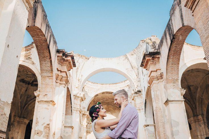 Beautiful wedding + engagement session in Antigua & Hotel Santo Domingo. Captured by Wedding Photographer Antigua Guatemala Daniel Lopez Perez