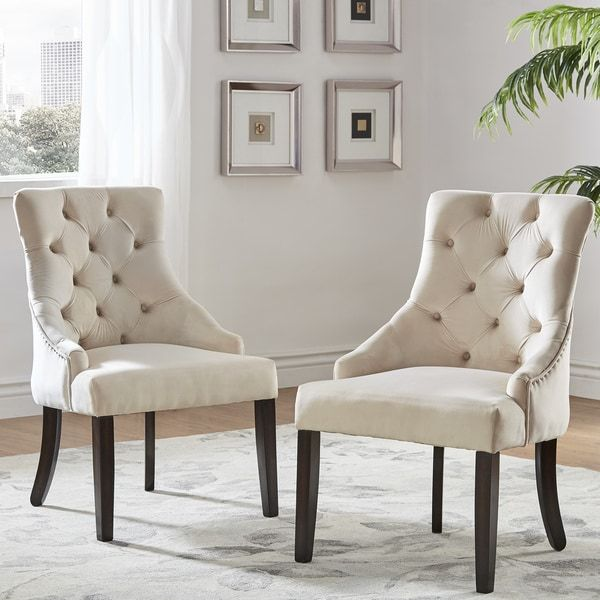 Benchwright II Velvet Button Tufted Wingback Hostess Chairs (Set Of 2) By  INSPIRE Q · Dining ChairsDining TableVelvetDining ...
