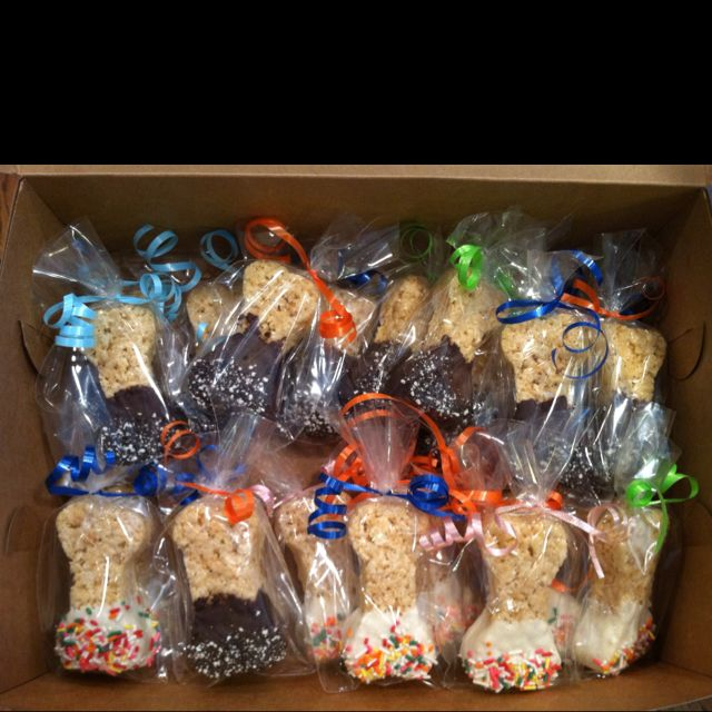 Dog bone shaped crispy treats by: Kim Wightkin