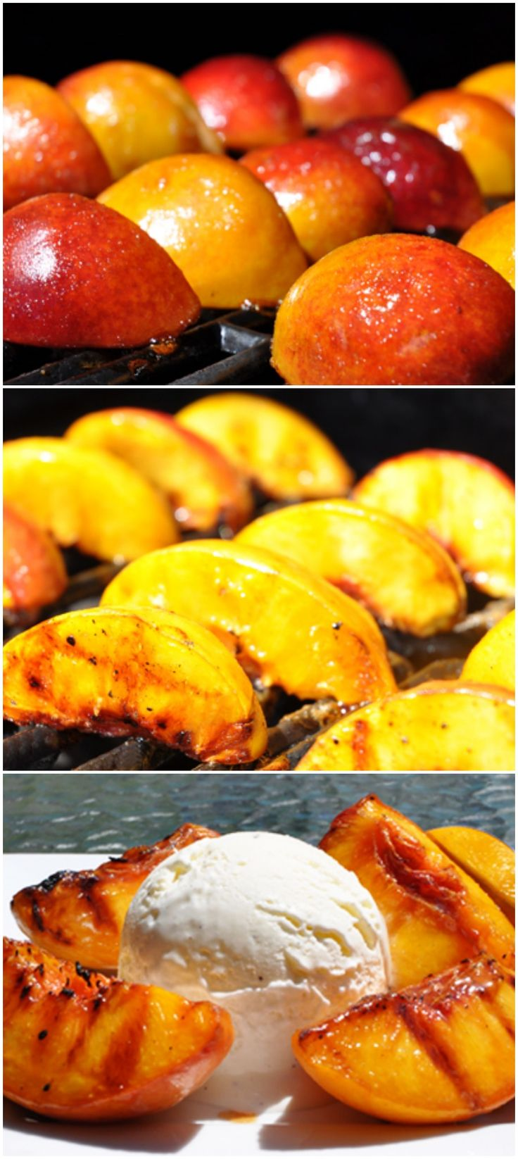 Grilled Peaches + Ice Cream