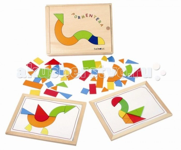 Развивающая игрушка Beleduc Форментера  Beleduc Развивающая игра Форментера - интересная и качественная игра для детей, предназначена развить у ребенка визуальное и тактильное восприятие в то время как он складывает вместе фигуры разнообразной формы, составляя из них изображение или целую картину. Различные уровни сложности игры увеличивают эффективность обучения и развивают воображение. В этой игре с помощью карточек с заданиями игрокам необходимо дополнить изображения, наложив на карточку…