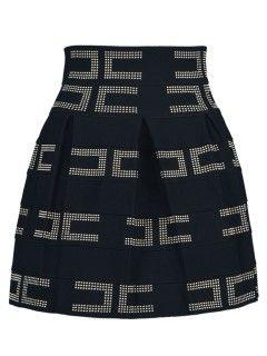 Shop Black Beaded High Waist Zipper Skirt from choies.com .Free shipping Worldwide.$19.99