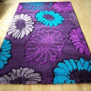 select flor aubergine teal purple modern rugs 160x230cm ebay modern purple and teal bedroom ideas 300x300