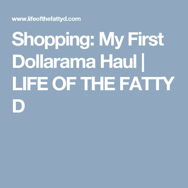 Shopping: My First Dollarama Haul | LIFE OF THE FATTY D