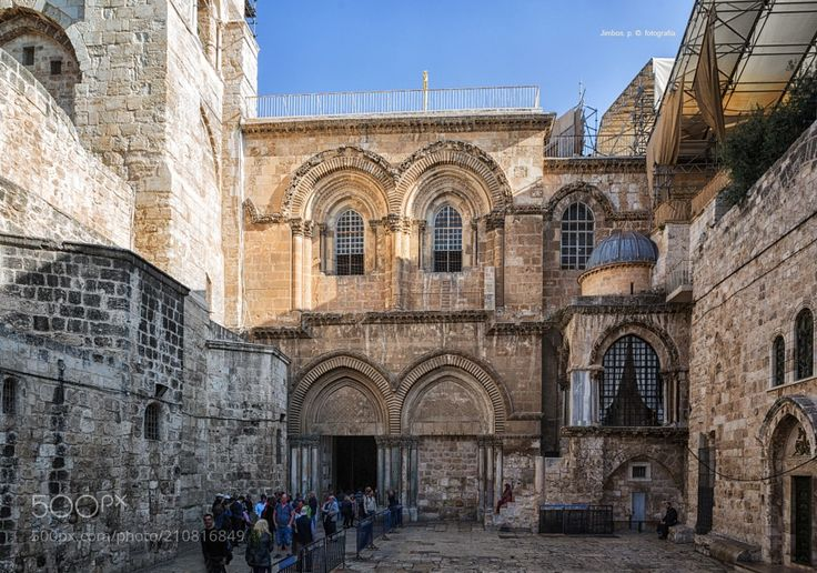 """The Staircase of the Church of the Holy Sepulcher by jimbos from http://500px.com/photo/210816849 - The Church of the Holy Sepulcher also called the Church of the Resurrection or Church of the Anastasis by the Orthodox Christians is a church in the Christian Quarter of the Old City of Jerusalem. The church contains according to traditions dating from at least the fourth century the two most sacred places of Christianity: the place where Jesus of Nazareth was crucified known as """"Calvary"""" or…"""