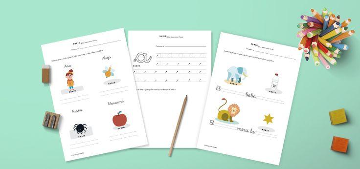 Descargable fichas de lectoescritura en PDF vocales para niños de 5 años (3º Educación Infantil)