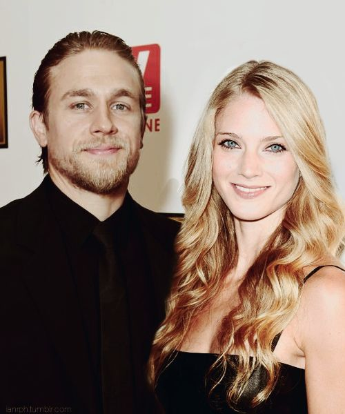 Charlie Hunnam and Winter Ave Zoli Manip I seriously do not know why she is still on the show.  I thought she was done when Opie dies.