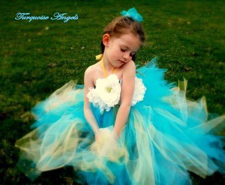 Flower Girl Tutu Dress Dream Angel Great for by turquoiseangels, $70.00