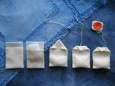 "My Mommy Makes It: Tuesday Toy Tutorial -""Tea For Two"" - make felted tea bags for playtime"