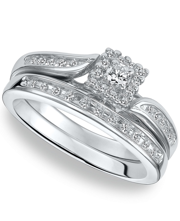 1000 images about Silver Diamond Engagement Rings on Pinterest