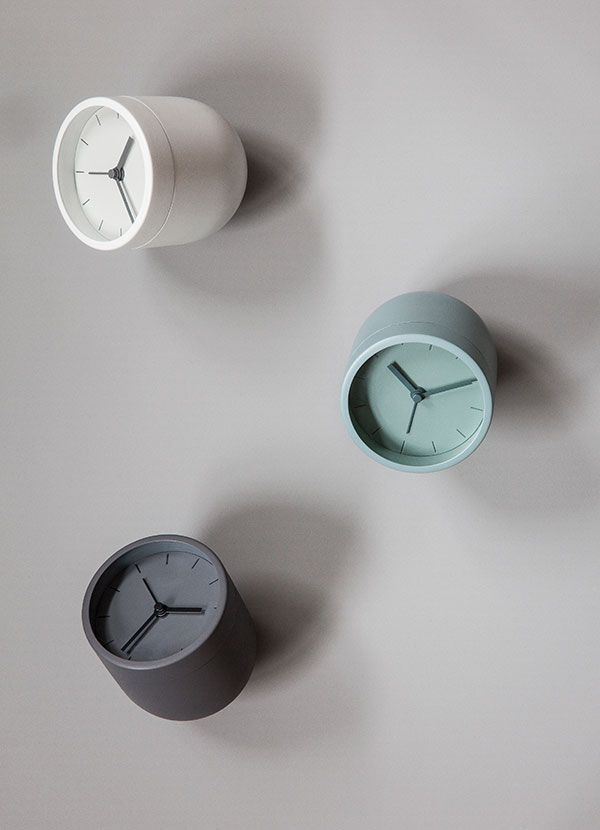 Tumbler Alarm Clock by Norm Architects Tumbler Alarm Clock is decorative, practical and fun to interact with. When it wakes you up – you turn the clock upside down to stop the alarm.