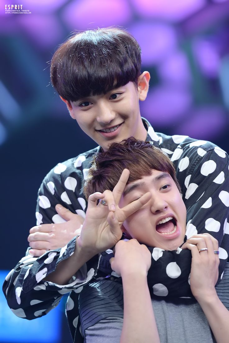 And then right after that cute moment! Haha #Chanyeol #Kyungsoo x) ChanSoo <3