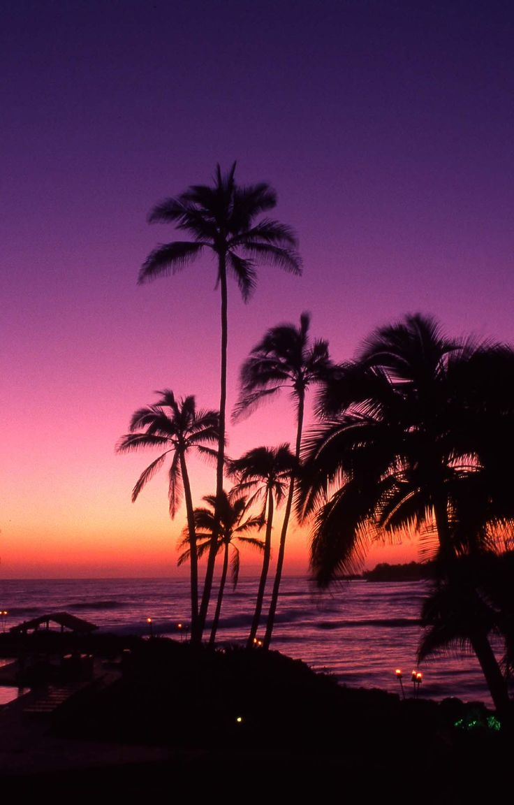 Purple Sunset, Tahiti
