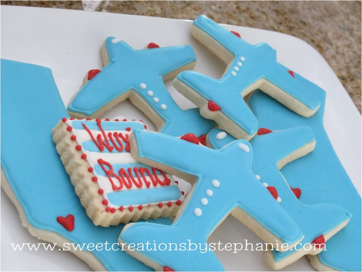 Airplane shaped cookies