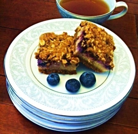 Blueberry Crisp Cheesecake Squares Nor's Recipe