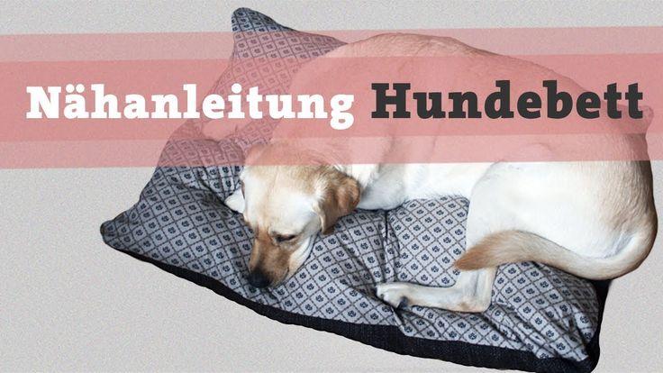 Nähanleitung Hundebett Hundekissen DIY selber nähen Hund Bett Kissen Kat...