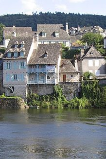 Argentat, Limousin, France  Another pinner writes:  This literally is my home, I come here every summer :')