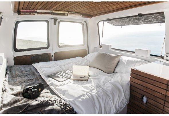 Man Builds Epic DIY Mobile Home from a Rusty Cargo Van | Photos | HGTV Canada