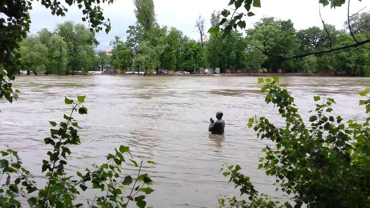 Prague FLOODS 2013, Kampa Park, Наводнение в Праге 2013