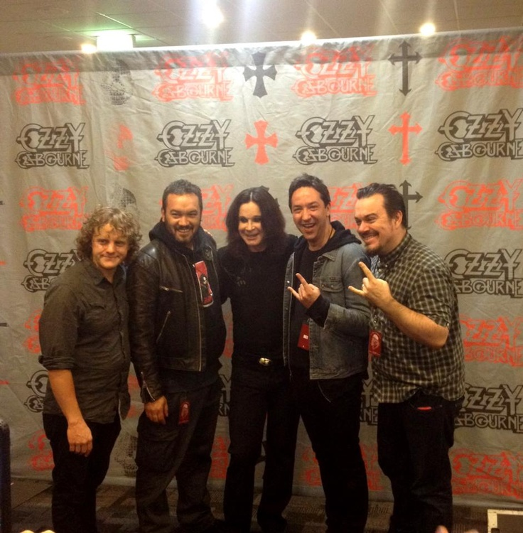 Shihad with Ozzy.