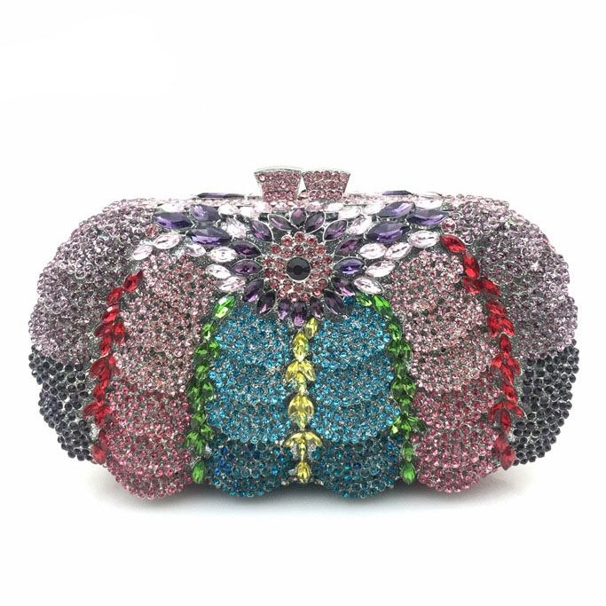 61.99$  Buy now - http://ali65v.worldwells.pw/go.php?t=32749272932 - Super Hollow Out Flower Women Rhinestone Makeup Bag Women Messenger Bag Evening Clutch Bag Handbag Women Rhinestone Clutch Bag
