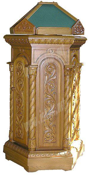 Church lecterns: Round kliros carved lectern