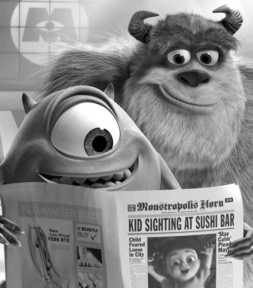Monstros S.A. foi produzido pela Pixar Animation Studios em parceria com a Walt Disney Pictures, contando a história dos amigos Mike e Sulley na empresa de sustos em crianças.