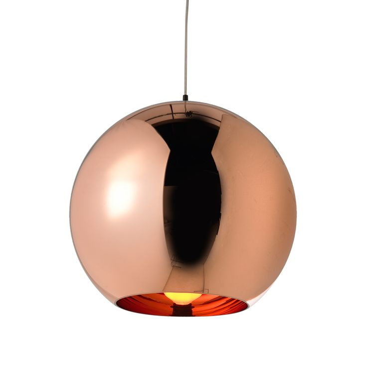 Tom Dixon Copper Pendant Light used at our project in Earls Court