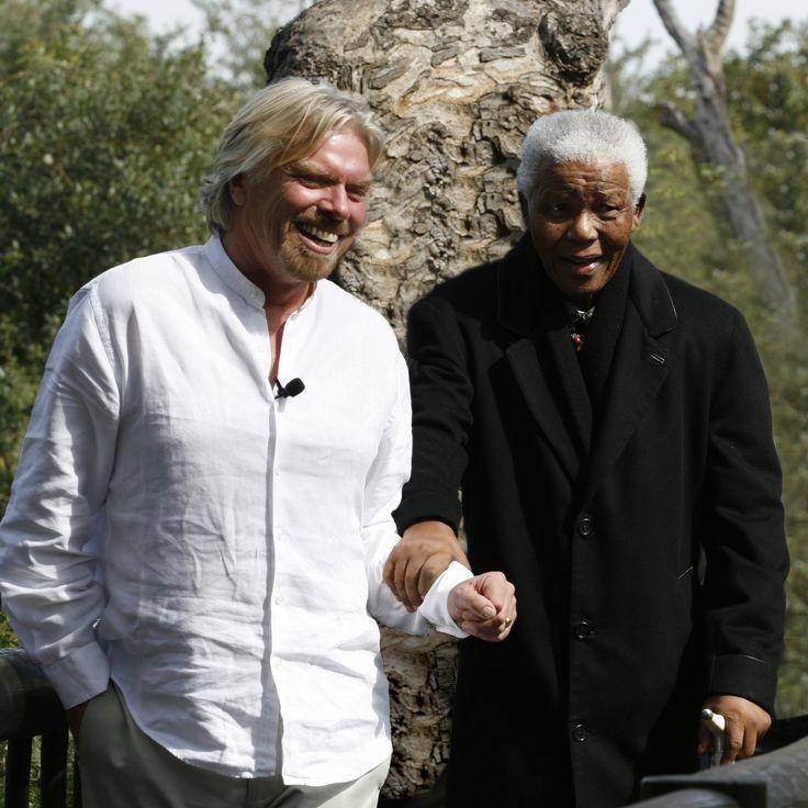 Richard Branson and Nelson Mandela