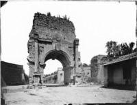 Roma - Via Appia antica, Arco di Druso presso Porta S. Sebastiano (antica Porta Appia) Cronologia del fototipo sec. XIX seconda metà