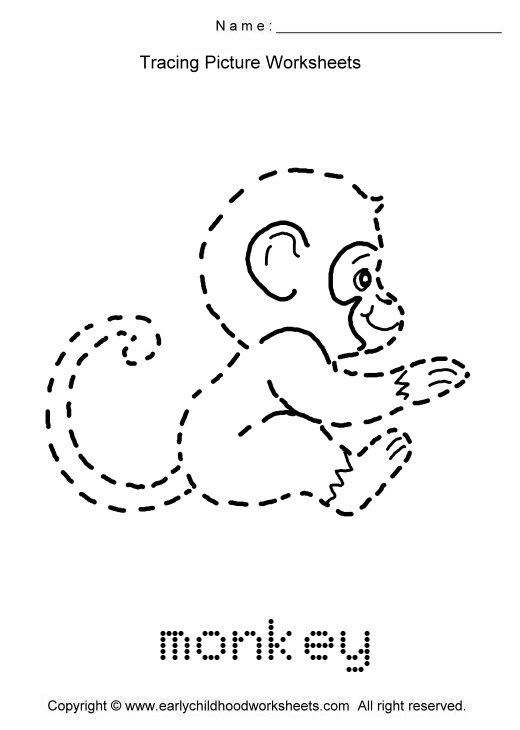 trace animals | ... images as. To print this worksheet ...