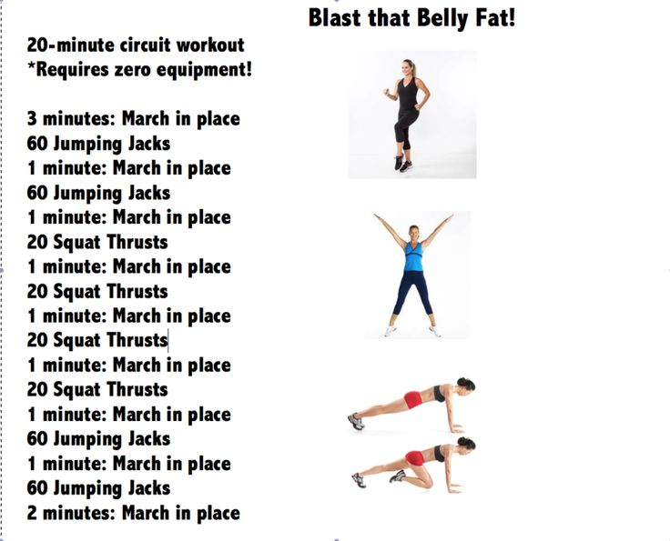 blast that belly fat  20 minute circuit workout from american baby magazine u2026 requires no