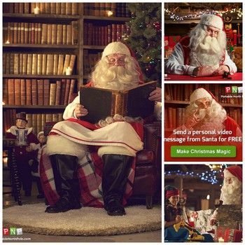 Portable North Pole, personalized video calls from Santa