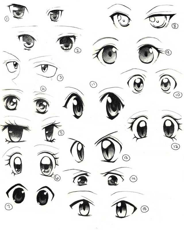 Anime Eyes Easy Anime Eyes Anime Eye Drawing How To Draw Anime Eyes